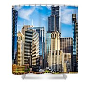 Chicago High Resolution Picture Shower Curtain