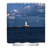 Chicago Illinois Harbor Lighthouse Early Evening Usa Shower Curtain