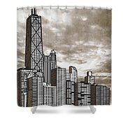 Chicago Illinois No Text Shower Curtain