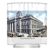 Chicago Illinois - Northwestern Railroad Station - 1927 Shower Curtain