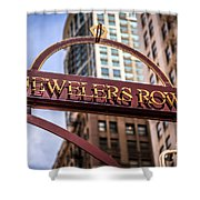 Chicago Jewelers Row Sign  Shower Curtain