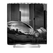 Cloud Gate Aka Bean In Black And White Shower Curtain
