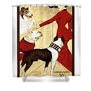 Chicago Kennel Club's Dog Show - Advertising Poster - 1902 Shower Curtain