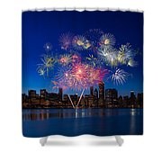 Chicago Lakefront Fireworks Shower Curtain