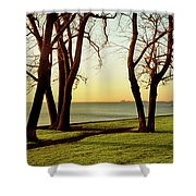Chicago Lakefront Trail And Lincoln Shower Curtain