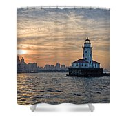 Chicago Lighthouse And Skyline Shower Curtain