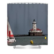 Chicago Lighthouse Shower Curtain
