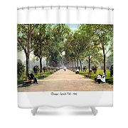 Chicago - Lincoln Park - 1910 Shower Curtain