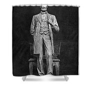 Chicago Lincoln Statue Shower Curtain