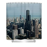 Chicago Looking East 04 Shower Curtain