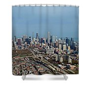Chicago Looking North 01 Shower Curtain