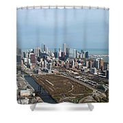 Chicago Looking North 02 Shower Curtain