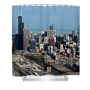 Chicago Looking North 03 Shower Curtain