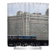 Chicago Merchandise Mart And Cta El Train Shower Curtain