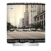 Chicago Michigan Ave Field Museum Art Institute Triptych 3 Panel Shower Curtain