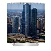 Chicago Modern Skyscraper Shower Curtain