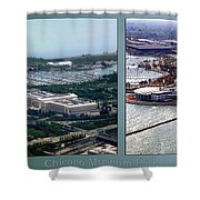 Chicago Museum Park 2 Panel Shower Curtain