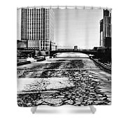Chicago On Ice By Diana Sainz Shower Curtain