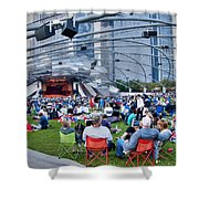 Chicago Outdoor Concert Shower Curtain