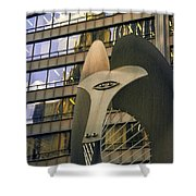 Chicago Picasso Shower Curtain