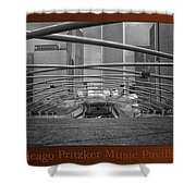 Chicago Pritzker Music Pavillion Sc Triptych 3 Panel Shower Curtain