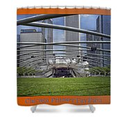 Chicago Pritzker Music Pavillion Triptych 3 Panel Shower Curtain