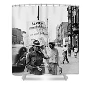 Chicago Protest, 1941 Shower Curtain