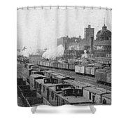 Chicago Railroads, C1893 Shower Curtain