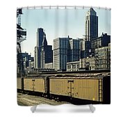 Chicago Railway Freight Terminal - 1943 Shower Curtain
