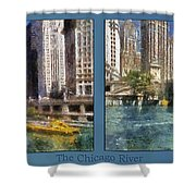 Chicago River 2 Panel Shower Curtain