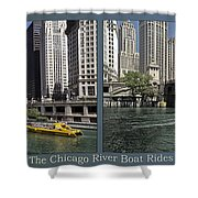 Chicago River Boat Rides 2 Panel Shower Curtain