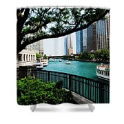Chicago River Scene Shower Curtain