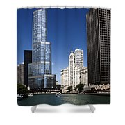 Chicago River Scenic Shower Curtain