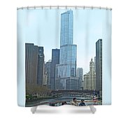 Chicago River Sights Shower Curtain
