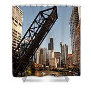 Chicago River Traffic Shower Curtain
