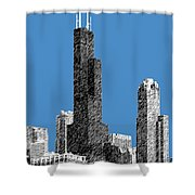 Chicago Sears Tower - Slate Shower Curtain