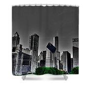 Chicago Skyline 1 Bwc Shower Curtain
