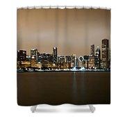 Chicago Skyline - Fog Rolling In Shower Curtain