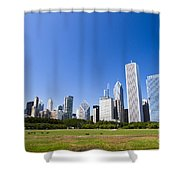 Chicago Skyline From Grant Park Shower Curtain