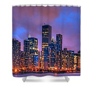 Chicago Skyline From Navy Pier View 2 Shower Curtain