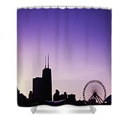Chicago Skyline Iv Shower Curtain