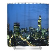 Chicago Skyline May 1983 Twilight Shower Curtain