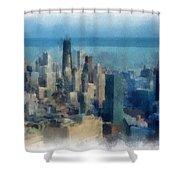Chicago Skyline Photo Art 06 Shower Curtain