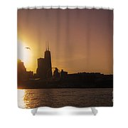 Chicago Skyline V Shower Curtain