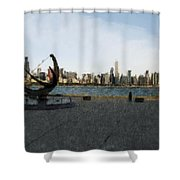 Chicago Skyline Water Color1 Shower Curtain