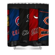 Chicago Sports Teams Shower Curtain