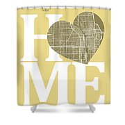 Chicago Street Map Home Heart - Chicago Illinois Road Map In A H Shower Curtain