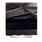 Chicago Structure Bw Shower Curtain