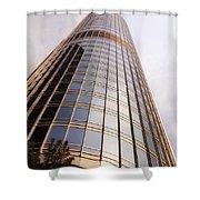 Chicago Sunrays On Trump Tower Shower Curtain