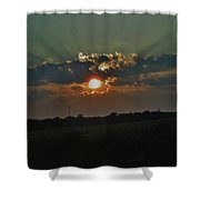 Chicago Sunset Shower Curtain
